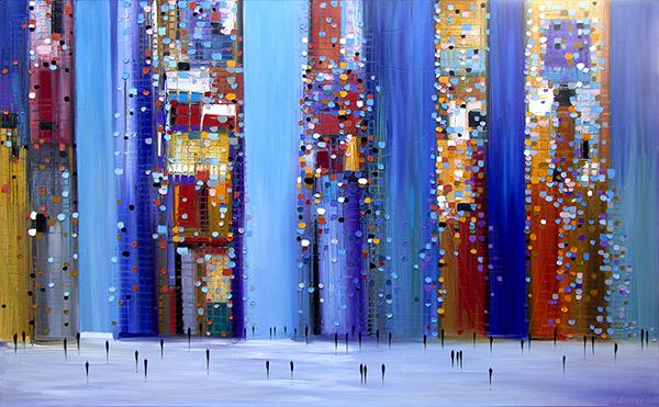 Ermilkina City Image on Display at NYC Art Show