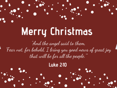 Good News of Christmas Luke 2:10