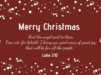 Good News of Christmas Luke 2:10